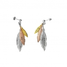 Feather Cluster Earrings
