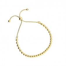 Gold Vermeil Adjustable Bead Bracelet