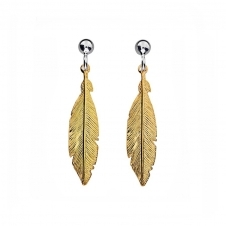Golden Feather Earrings