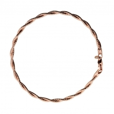 Rose Double Strand Twist Bracelet