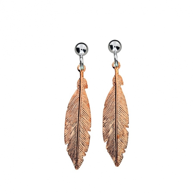 Azendi Rose Feather Earrings