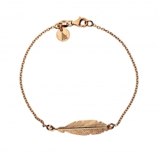 Rose Gold Plated Feather Bracelet