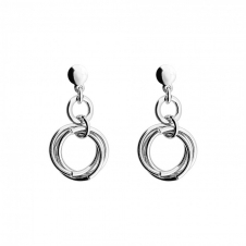 Silver Love Knot Drop Earrings