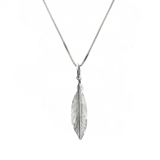 Silver Small Feather Pendant
