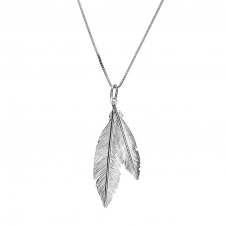 Silver Twin Feather Pendant