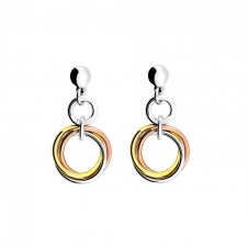 Three Colour Love Knot Drop Earrings
