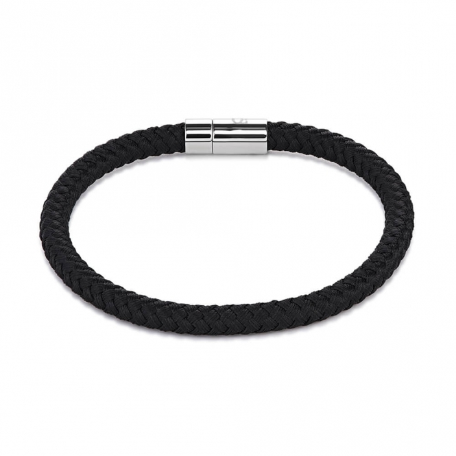 Coeur De Lion Braided Textile Black Bracelet