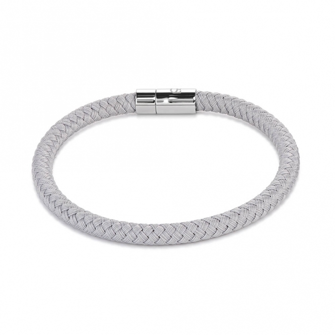 Coeur De Lion Braided Textile Light Grey Bracelet