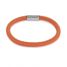 Braided Textile Orange Bracelet