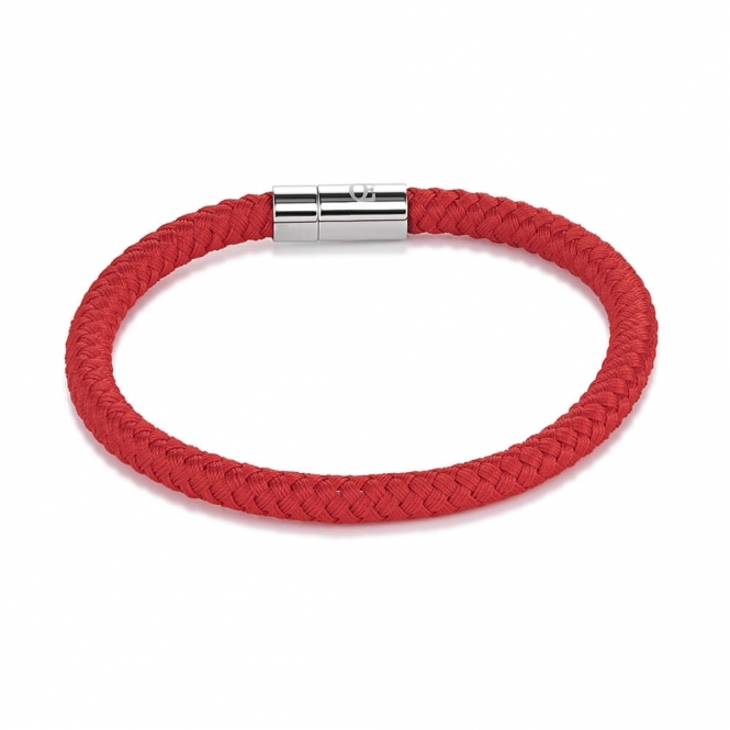 Coeur De Lion Braided Textile Red Bracelet