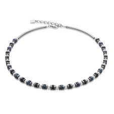 Crystal Pearls Moonlit Blue and Grey Necklace