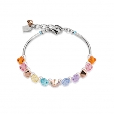Frontline Swarovski Crystals and Crystal Pearls Multicolour Pastel Bracelet