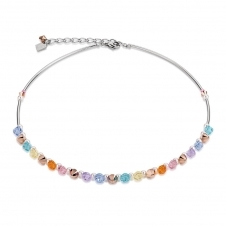 Frontline Swarovski Crystals and Crystal Pearls Multicolour Pastel Necklace
