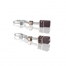 Geo Cube Amethyst Earrings