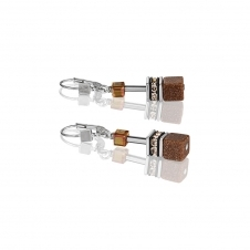Geo Cube Cognac Earrings