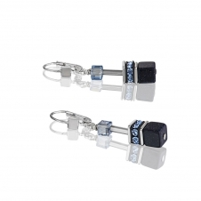 Geo Cube Dark Blue Earrings