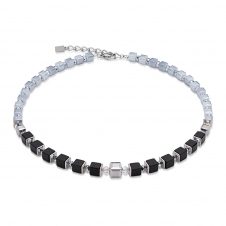 Geo Cube Grey-Black Necklace