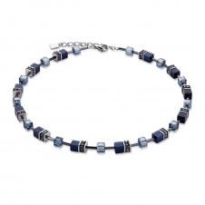 Geo Cube Navy Necklace
