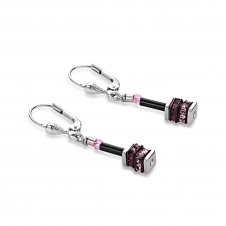 Geo Cube Pink-Rose Earrings
