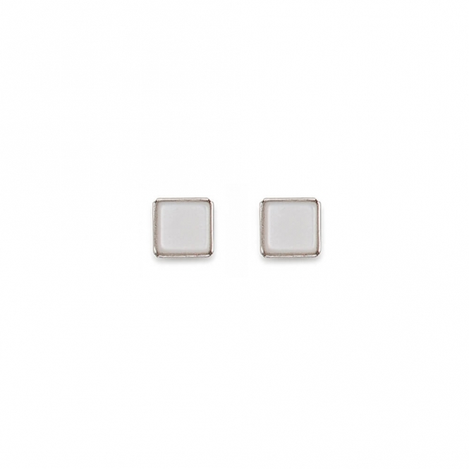 Coeur De Lion Polaris White Earrings