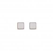 Polaris White Earrings