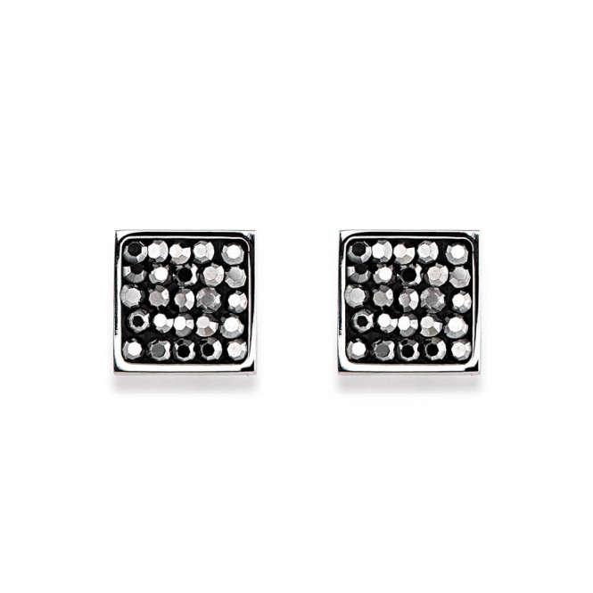Coeur De Lion Rhinestone Pave Anthracite Earrings