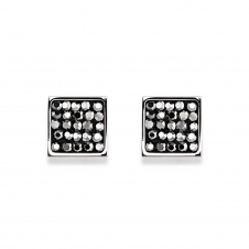 Rhinestone Pave Anthracite Earrings