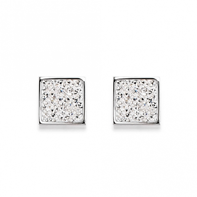Coeur De Lion Rhinestone Pave Crystal Earrings