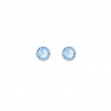Swarovski Crystal Aqua Stud Earrings