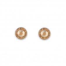 Swarovski Crystal Beige Stud Earrings