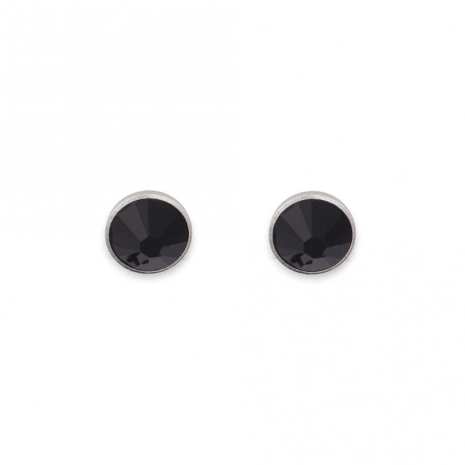 Coeur De Lion Swarovski Crystal Black Stud Earrings