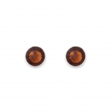 Swarovski Crystal Brown Stud Earrings