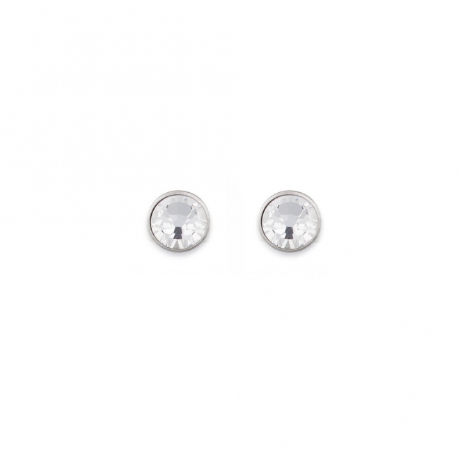 Coeur De Lion Swarovski Crystal Clear Stud Earrings
