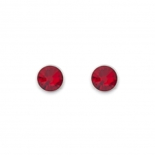 Swarovski Crystal Dark Red Stud Earrings