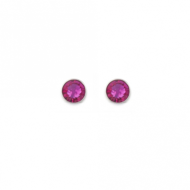 Coeur De Lion Swarovski Crystal Pink Stud Earrings