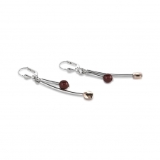 Swarovski Crystals and Crystal Pearls Dark Red Earrings