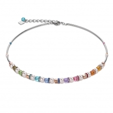 Swarovski Crystals and Crystal Pearls Frontline Multicolour Necklace
