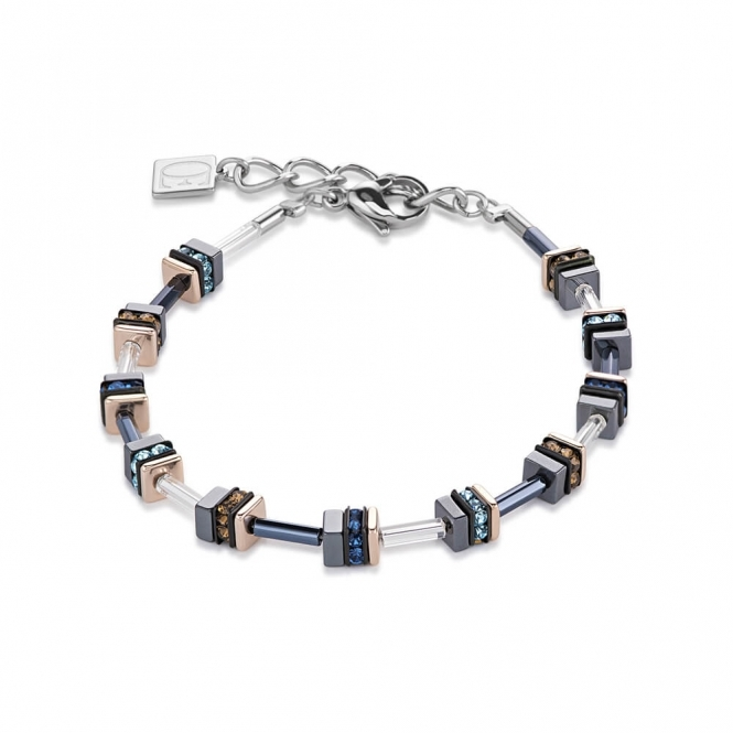 Coeur De Lion Swarovski Crystals and Haematite Blue Bracelet