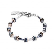 Swarovski Crystals and Haematite Blue Bracelet