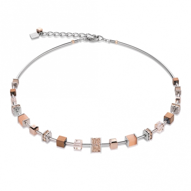 Coeur De Lion Swarovski Crystals Pave Rose Gold Necklace