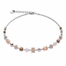 Swarovski Crystals Pave Rose Gold Necklace