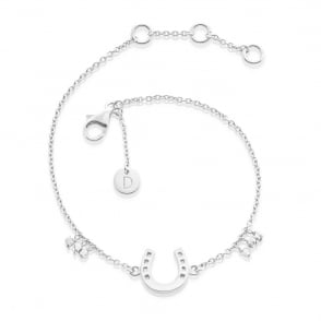 Horseshoe Good Karma Chain Bracelet