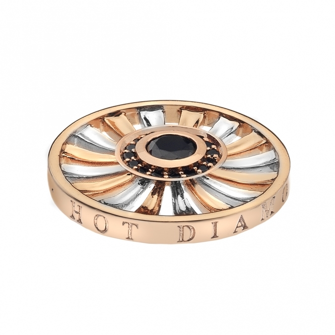 Emozioni 25mm Art Deco Sunrise Silver & Rose Gold Plated Coin