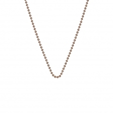 "30"" Rose Gold Plated Sterling Silver Bead Chain"