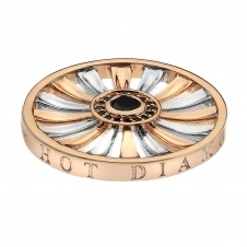 33mm Art Deco Sunrise Silver & Rose Gold Plated Coin