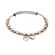 Rose Gold Plated Heart Bangle