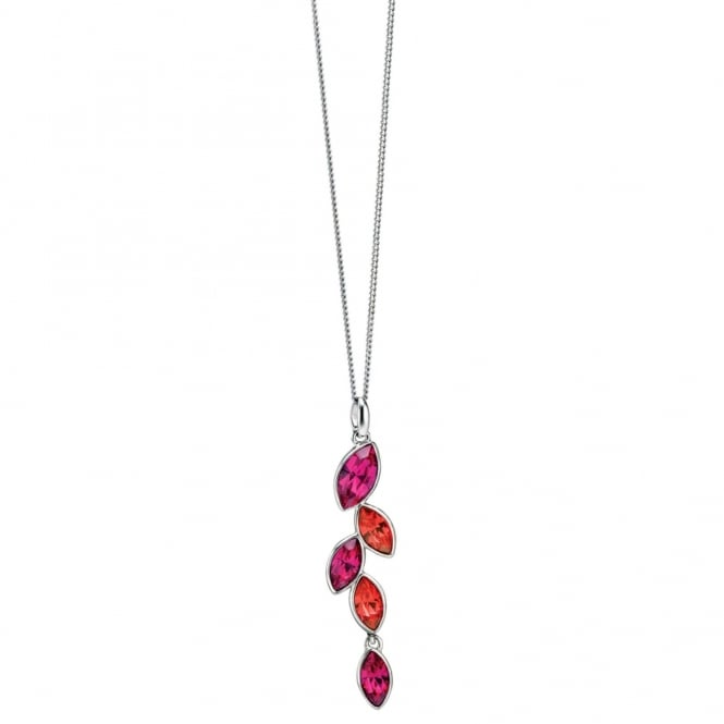 Fiorelli Multicoloured Leaf Dropper Pendant P4079