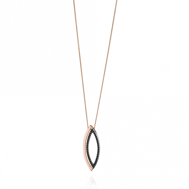 Fiorelli Rose Gold Plated Marquise Open Pendant