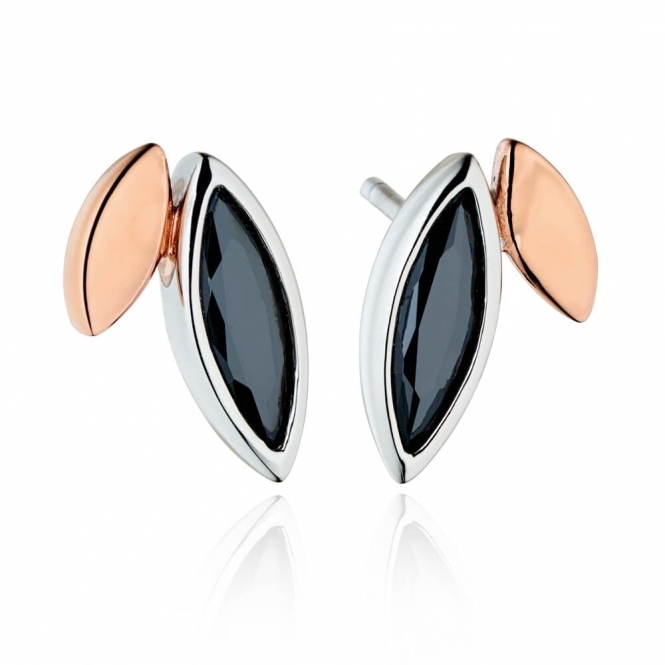 Fiorelli Silver and Rose Gold Plated Earrings