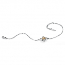 Silver Gold Plated Cubic Zirconia Circles Bracelet